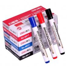 VWIN真人6817水性可擦白板笔红蓝黑色儿童画板笔黑板笔易擦办公用品