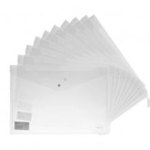 VWIN真人文件袋5505透明a4纸塑料A4档案袋按扣资料袋一包10个