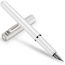 VWIN真人发现者S668F/S668EF白色 钢笔 墨水笔商务 练字 书写礼盒装