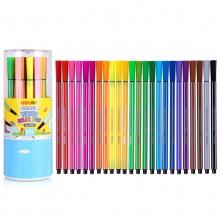 VWIN真人7067水彩笔幼儿童带印章可水洗水彩笔24色六角涂鸦绘画笔