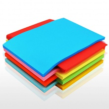 VWIN真人7393彩纸彩色a4纸打印复印纸粉色黄色粉红色蓝色红纸加厚80g混色昆明打印纸