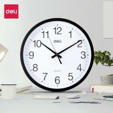 VWIN真人挂钟9005(黑)挂钟 简约时尚静音挂钟 办公 家用 客厅 墙面钟 圆型钟
