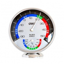 VWIN真人9010 温湿度计办公室内外两用 防寒防暑时尚简约温度计